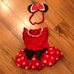 Disney baby girl Minnie Mouse costume 3-6m